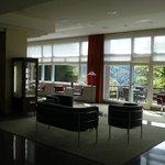 Spacious hotel lobby