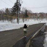Neve acumulada e frio intenso