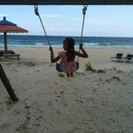 swings for kids on the beach