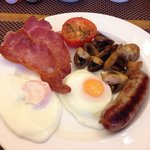 Full Sussex breakfast without beans.. Locally sourced.. Yummy!!
