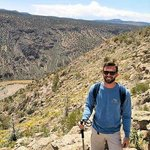 At the top of the hike, overlooking the Rio Grande