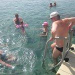 Вот так с понтона ныряли в Красное море