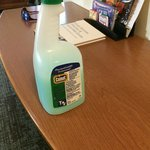 Cleaning product left in room