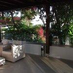 outside balcony area (bar)