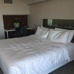 Big comfy bed.