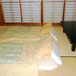 Tatami beds are laid out at night (10/2013)