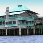 We are located on the wharf, above the water!