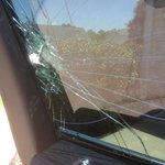 Car Breakin. Window shattered