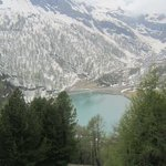 Glacial lake on the Bernina Express