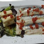 Lomos de sardina con queso