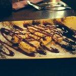 Nougat + coulis fruits rouges