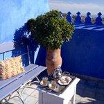 Petit thé sur la terrasse