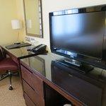 Desk in twin room