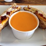 Adult grilled cheese with tomato bisque