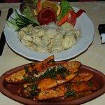 Wonderful ravioli and potatoes