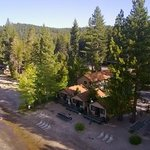 Aerial view of the cabin we stayed in.