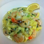 Prawn shrimp and scallop fettuccine.. our best seller!