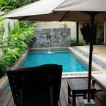 The private pool in my bungalow.