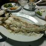 Fresh fish cooked in a layer of salt.. Simply amazing. Recomended