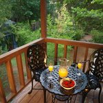 Enjoy breakfast on your private deck