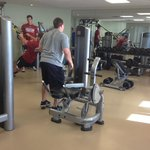 the gym - rather small but in an obese nation I guess nobody cares