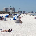Clearwater Beach, right across the street