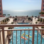 10th floor suite balcony- faces the pool and the beach