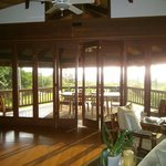 View from inside, looking out on breakfast lanai