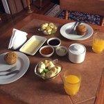 rico desayuno, los huevos revueltos estaban por llegar