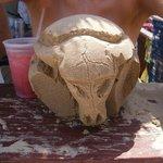 Buffalo skull by me