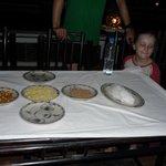 Floating rice cake ingredients