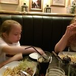 girls enjoying food