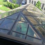 Overhead view of indoor pool