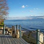 Lower private beach deck!