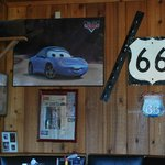 Route 66 Memorabilia all through the Rock Cafe