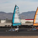 Our blokart sailing school in action