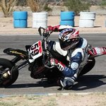 Jake Holden on his Supermoto here at the track