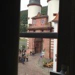 Vista da janela de nosso quarto