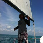 Go sailing, snorkeling or fishing with Juan Campos at Chi Chi & Charlie's!