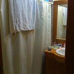 Master bath in H-102, walk-in shower