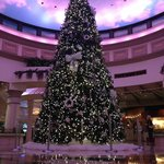 Beautiful Christmas tree near the casino and shops