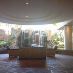 Hotel Lobby. You can walk behind those falls to get to the pool!