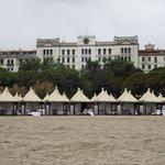 Vista do Hotel des Bains, um dos cenários do filme Morte em Veneza.