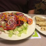 Greek Salad with Pita