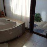 ванная и садик с душем