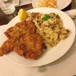 Yummy chicken schnitzel!!