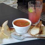 Tomato Soup and Grilled Cheese > Ultimate comfort food, neat presentation!
