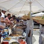 Mexican buffet at beach
