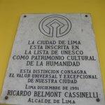World Heritage plaque
