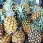 Fragrant fresh local pineapples